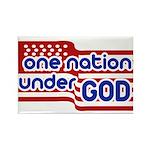 One Nation Under God Rectangle Magnet (10 pack)
