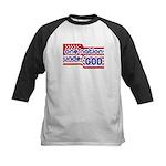 One Nation Under God Kids Baseball Jersey