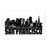 San Fransico Skyline Postcards (Package of 8)