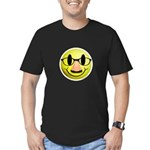 Groucho Smiley Men's Fitted T-Shirt (dark)