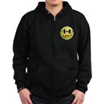 Groucho Smiley Zip Hoodie (dark)