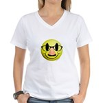 Groucho Smiley Women's V-Neck T-Shirt