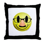 Groucho Smiley Throw Pillow