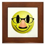Groucho Smiley Framed Tile