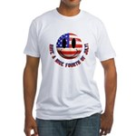 July 4th Smiley Fitted T-Shirt