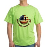 July 4th Smiley Green T-Shirt