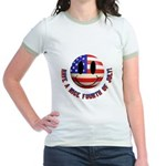 July 4th Smiley Jr. Ringer T-Shirt