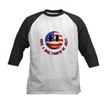 July 4th Smiley Kids Baseball Jersey