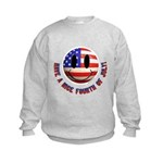 July 4th Smiley Kids Sweatshirt