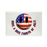 July 4th Smiley Rectangle Magnet (10 pack)
