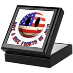 July 4th Smiley Keepsake Box