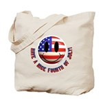 July 4th Smiley Tote Bag