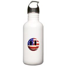 July 4th Smiley 2 Water Bottle