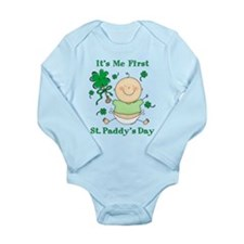 Me 1st St. Paddy's Day Long Sleeve Infant Bodysuit