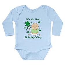 Me 1st St. Paddy's Day Long Sleeve Infant Bodysuit