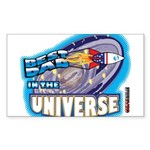 Best Dad in the Universe Ligh Sticker (Rectangle 5