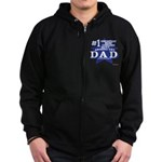 Greatest Coolest DAD Zip Hoodie (dark)