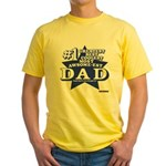 Greatest Coolest DAD Yellow T-Shirt