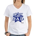 Greatest Coolest DAD Women's V-Neck T-Shirt