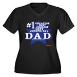 Greatest Coolest DAD Women's Plus Size V-Neck Dark