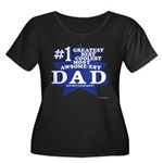 Greatest Coolest DAD Women's Plus Size Scoop Neck
