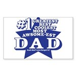 Greatest Coolest DAD Sticker (Rectangle 10 pk)