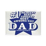 Greatest Coolest DAD Rectangle Magnet (100 pack)
