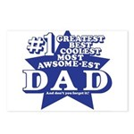 Greatest Coolest DAD Postcards (Package of 8)