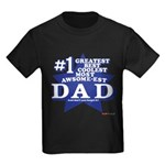 Greatest Coolest DAD Kids Dark T-Shirt