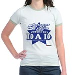 Greatest Coolest DAD Jr. Ringer T-Shirt