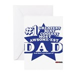 Greatest Coolest DAD Greeting Cards (Pk of 10)