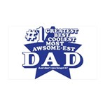 Greatest Coolest DAD 38.5 x 24.5 Wall Peel