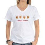 4 Pitchers Women's V-Neck T-Shirt