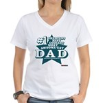 #1 Dad Women's V-Neck T-Shirt