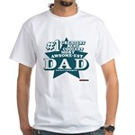 #1 Dad White T-Shirt