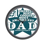 #1 Dad Wall Clock
