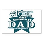 #1 Dad Sticker (Rectangle)