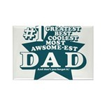 #1 Dad Rectangle Magnet (100 pack)