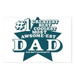 #1 Dad Postcards (Package of 8)