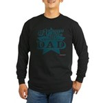 #1 Dad Long Sleeve Dark T-Shirt
