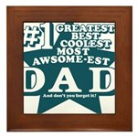 #1 Dad Framed Tile