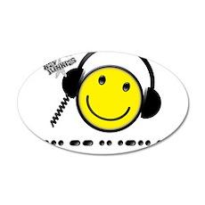 Morse Code - Smile 22x14 Oval Wall Peel