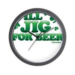 Will Jig For Beer! Wall Clock