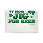 Will Jig For Beer! Rectangle Magnet (10 pack)