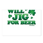 Will Jig For Beer! Postcards (Package of 8)
