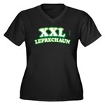 XXL Leprechaun_2 Women's Plus Size V-Neck Dark T-S