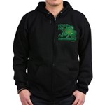 Kiss Me... I'm Drunkish! Zip Hoodie (dark)