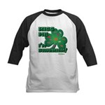 Kiss Me... I'm Drunkish! Kids Baseball Jersey