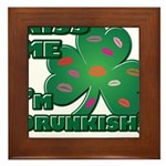 Kiss Me... I'm Drunkish! Framed Tile