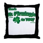 St Patrick's Day t-shirt, Mr Throw Pillow